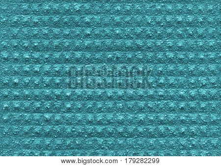 Blue mint texture of the porous relief material is close-up. Abstract wall surface background for design