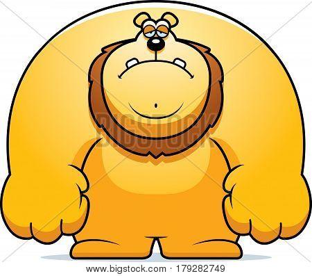 Sad Cartoon Lion