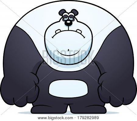 Sad Cartoon Panda