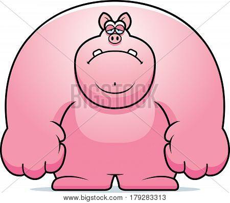 Sad Cartoon Pig