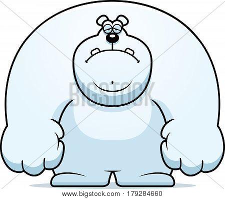 Sad Cartoon Polar Bear
