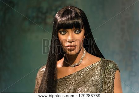 Bangkok -july 22:a Waxwork Of Naomi Elaine Campbell On Display At Madame Tussauds On July 22, 2015 I
