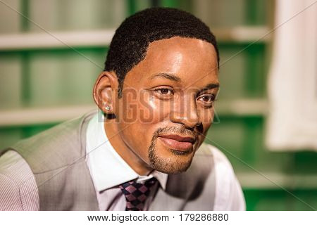 Bangkok - Jan 29: A Waxwork Of Will Smith On Display At Madame Tussauds On January 29, 2016 In Bangk