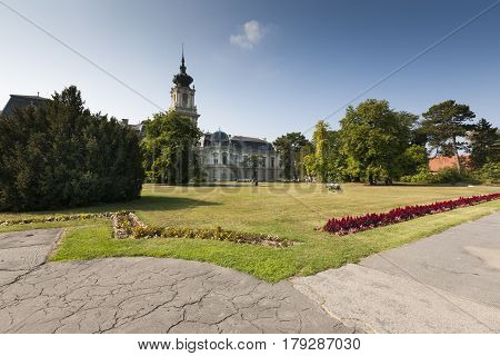 View Of The Festetics Palace, Located In Keszthely Town, Hungary. It's Baroque-style Building Was Co