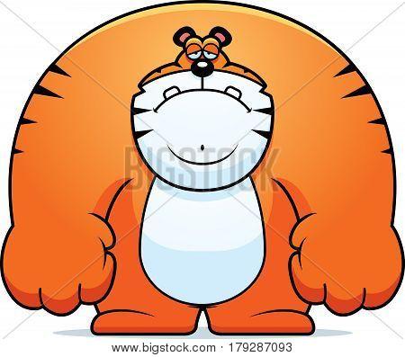 Sad Cartoon Tiger