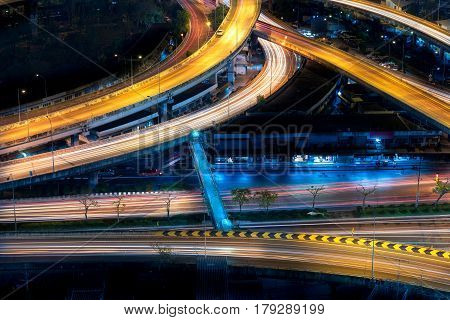 Motorway, Expressway, Freeway The Infrastructure For Transportation In Modern City, Urban View At Ni