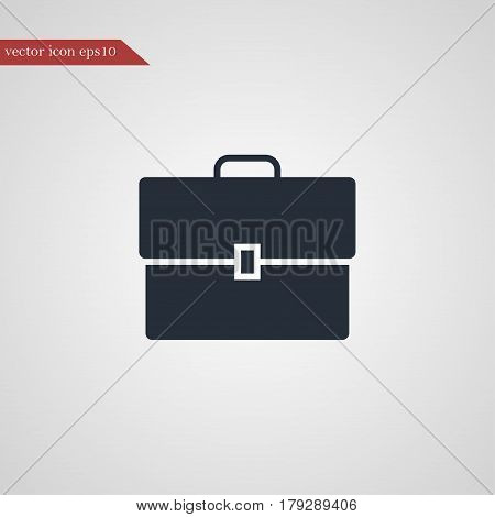 Case icon simple business vector sign illustration