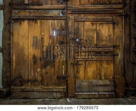 Wooden And Old Gate Of The Farmhouse