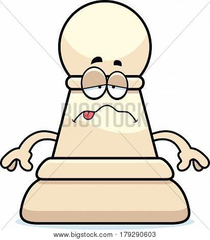 Sick Cartoon Chess Pawn