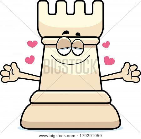 Cartoon Chess Rook Hug