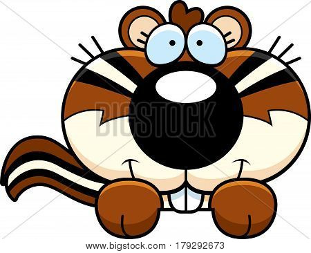 Cartoon Chipmunk Peeking
