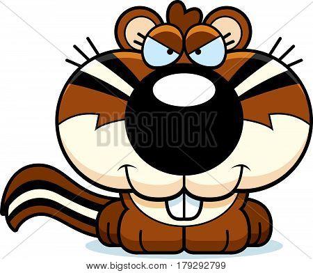 Cartoon Sly Chipmunk