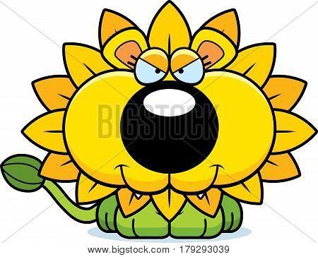 Cartoon Sly Dandelion Lion