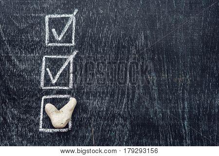 Checking Mark On Checklist, Tick In The Box Concept.. Marine Theme