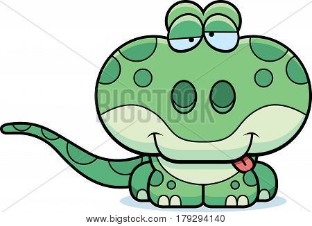 Cartoon Goofy Gecko