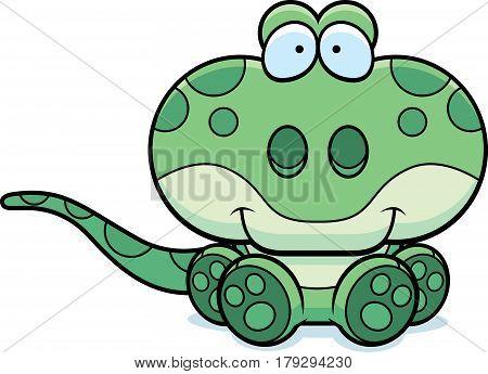 Cartoon Gecko Sitting