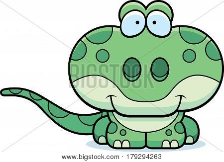 Cartoon Gecko Smiling