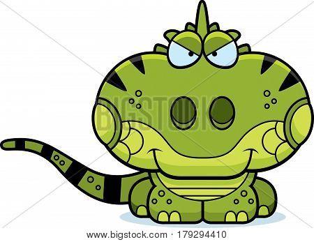 Cartoon Sly Iguana