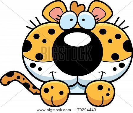 Cartoon Leopard Peeking