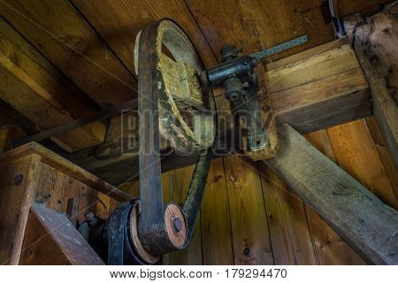 The Pinion Gear Of An Old Mechanical Device