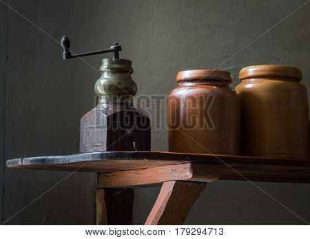 The Old And Ancient Utensils In A  Farmhouse