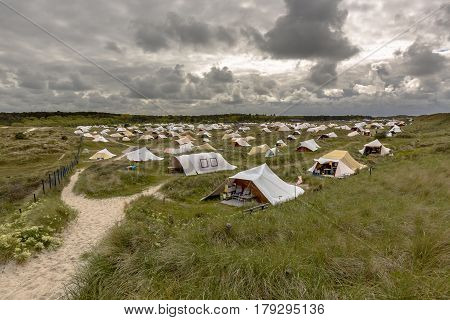 Campsite In The Dunes