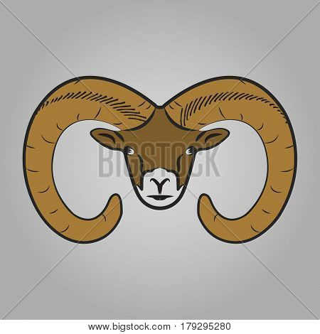 Ram head icon. Animals symbol vector illustration