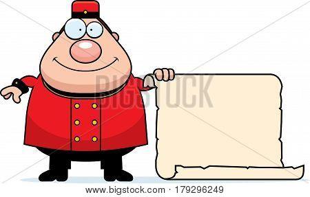 Cartoon Bellhop Sign