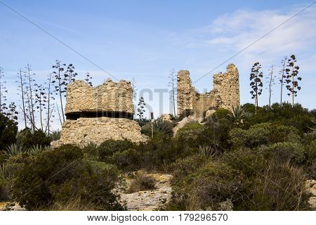 Cagliari: medieval coastal tower located on the top of Devil's Saddle - Sardinia