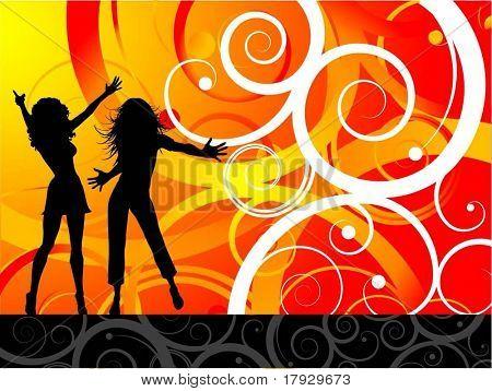Party girls - vector