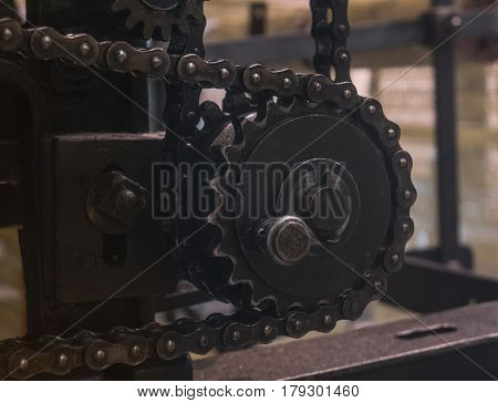 The old and vintage engine, macro .