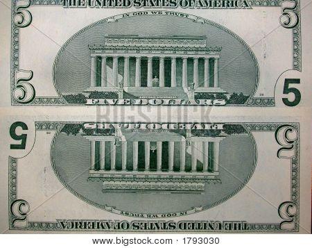 Five Dollar Bills - $5