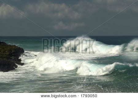 Wind Blown Wave Action