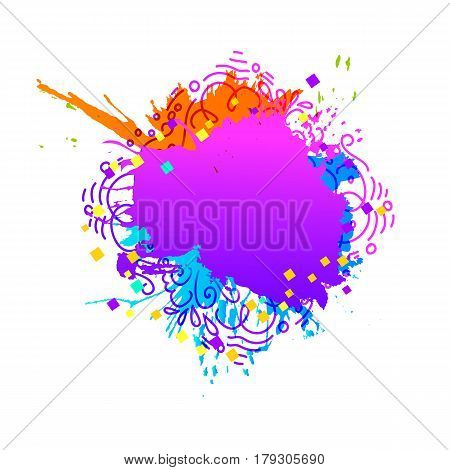 Colorful hand drawn abstract background in different colors. Festival of colors. Vector illustration. Usable for banners, greeting cards, flyers and posters.