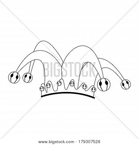 jester hat icon over white background. vector illustration