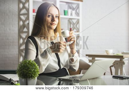 Attractive Girl In Office