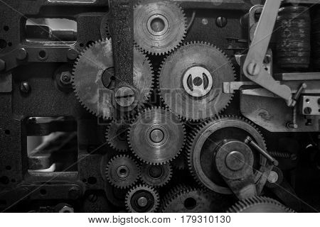The Gears Of A Old And Vintage Machine