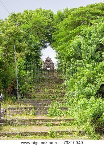 Hindu Temple On Lembongan Island