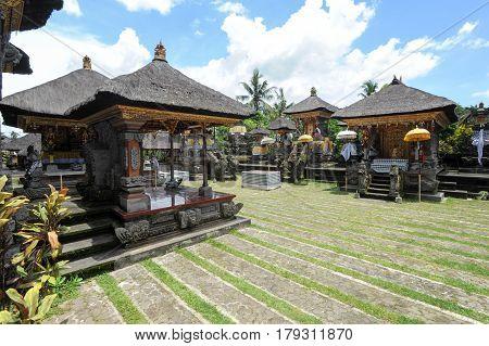 Ubud, indonesia - 10 February 2013: Balinese temple at Penestanan on Bali Indonesia