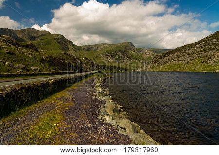 Lake Ogwen And The A5 Road