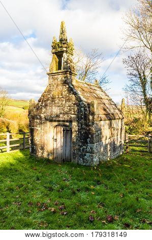 Dupath Well is dedicated to St Ethelred built over a spring. Dupath Callington Cornwall England United Kingdom.