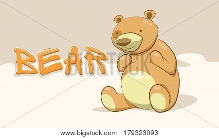 Bear. Bear vector. Bear portrait. Happy bear. Bear sitting. Bear vector icon. Cute bear. Bear logo. Bear cartoon. Bear drawing. Bear illustration. Funny bear. Kids bear. Bear hand drown.