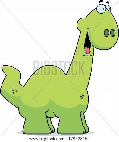 Hungry Cartoon Apatosaurus