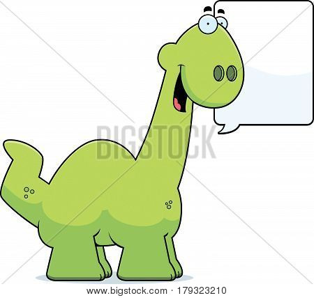 Talking Cartoon Apatosaurus