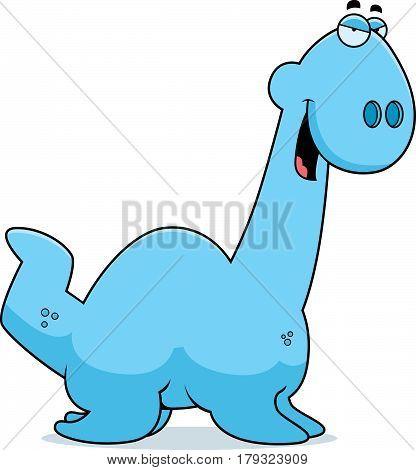Sly Cartoon Plesiosaur