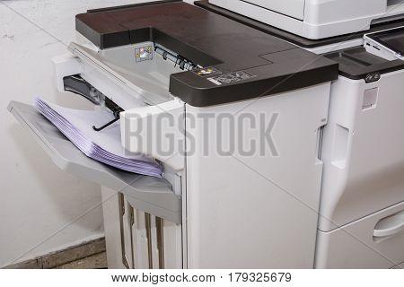 multi task copy machine in work printing