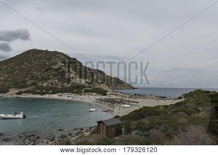 Sardinia - Cagliari Punta Molentis beach - Costa Rei