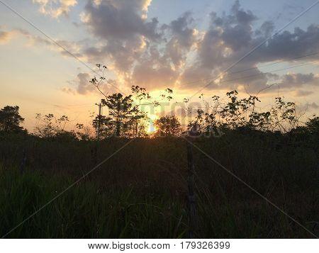 Atardecer en el corazón de la selva amazónica