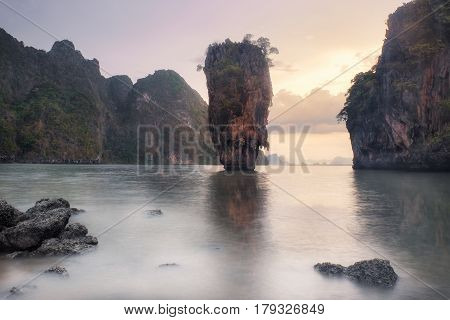 Thailand James Bond Island at Sunset - Landscape