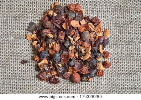different types of loose teas, black, red, green